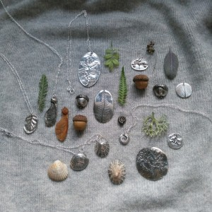 silver clay class pieces